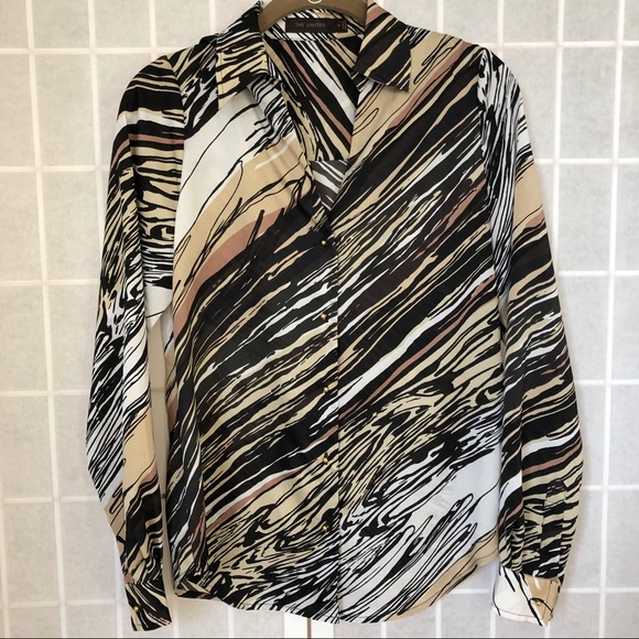 The Limited animal print top button down - EUC